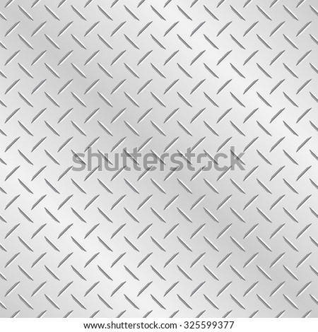 Metal diamond plate. Vector wallpaper background that repeats left, right, up and down  - stock vector