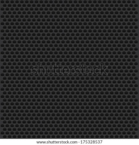 Metal dot perforated texture. Background  - stock vector