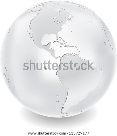 Metal globe - stock vector