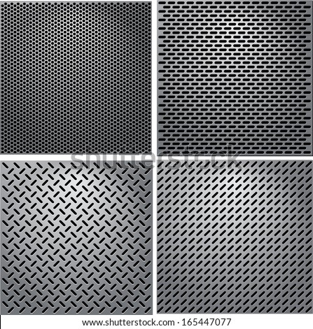 Metal Grid - stock vector