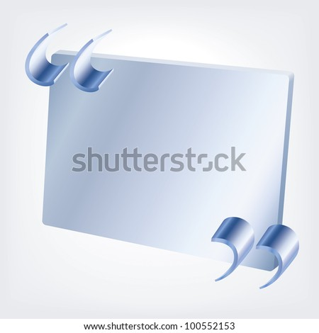 Metal quotes with a board - stock vector