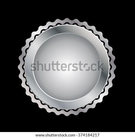 Metal Seal . Vector Metal Seal . Stamp Metal Seal . Metal Silver Seal . Metal Old Seal . Medal Metal Seal . Emblem Metal Seal . Badge Metal Seal . Label Metal Seal . - stock vector