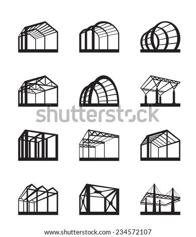 Metal structures in perspective - vector illustration - stock vector
