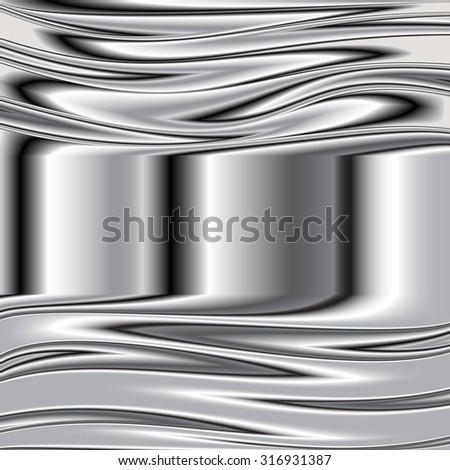 Metal texture background. Vector image steel 5 - stock vector