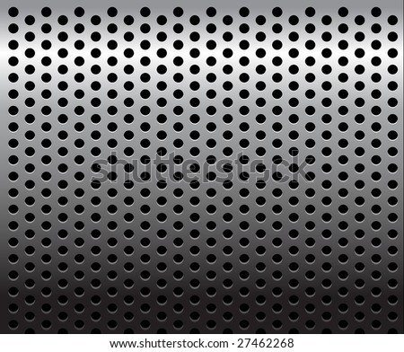 Metal texture / pattern with holes - stock vector
