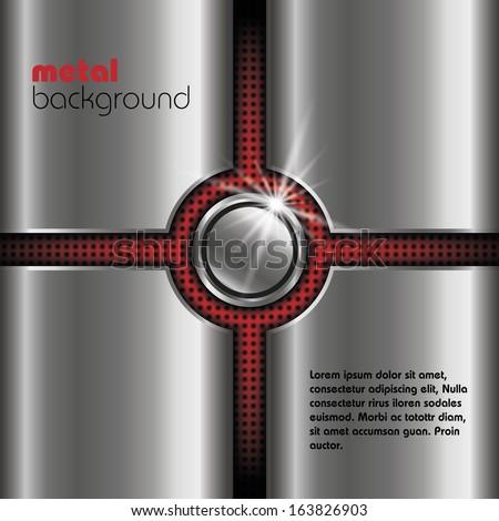 metal vector background - stock vector