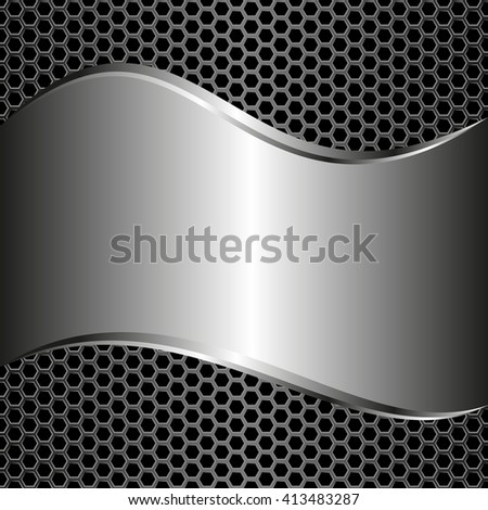 metallic background and grate - stock vector