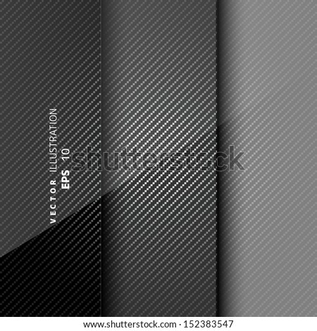 Metallic background with carbon texture - stock vector