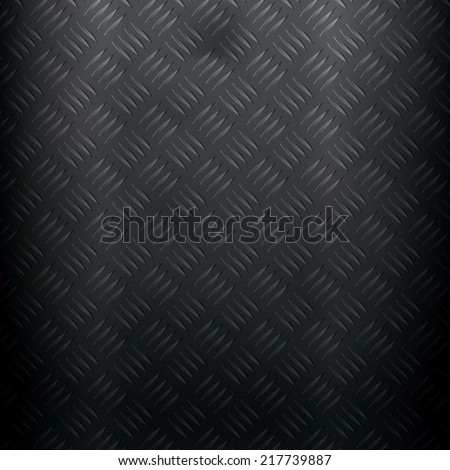 Metallic background with diamond plate - stock vector