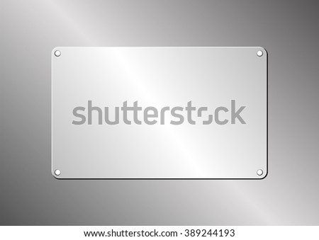 metallic background with plaque - stock vector