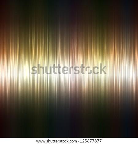 Metallic highlight stripes dark vector background. - stock vector