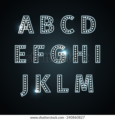 Metallic silver alphabet letters collection - eps - stock vector