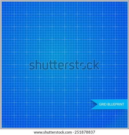Metric geometry blueprint - stock vector