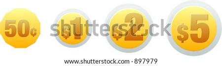 Mexican coins - stock vector