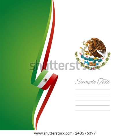 Mexican left side brochure cover vector - stock vector