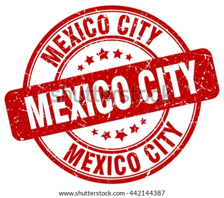 Mexico City red grunge round vintage rubber stamp.Mexico City stamp.Mexico City round stamp.Mexico City grunge stamp.Mexico City.Mexico City vintage stamp. - stock vector