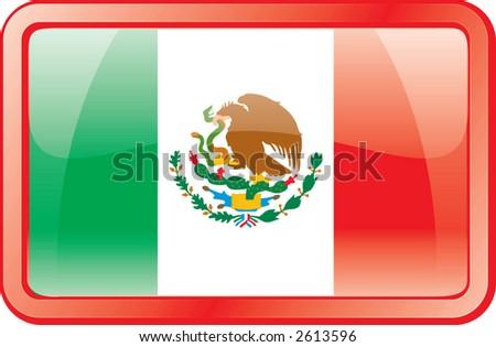 Mexico Flag Icon - stock vector