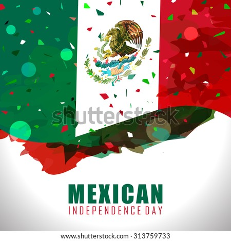 Mexico Independence day flag and cinco de mayo abstract design  - stock vector