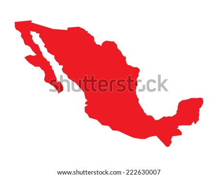 Mexico map - stock vector