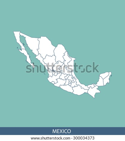 Mexico map vector, Mexico map outlines for science, brochure, tourist map, and other publication uses - stock vector