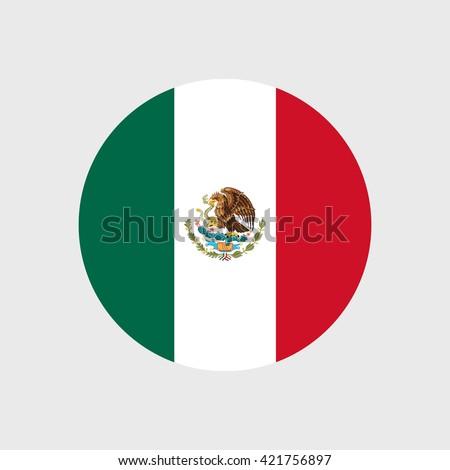Mexico national flag - stock vector