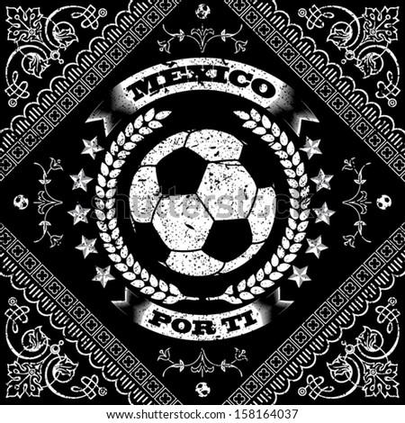 Mexico Port TI - Soccer - stock vector