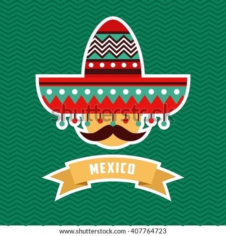 Mexico Themes Template - stock vector