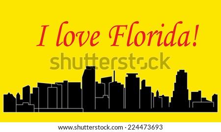 Miami, Florida - stock vector