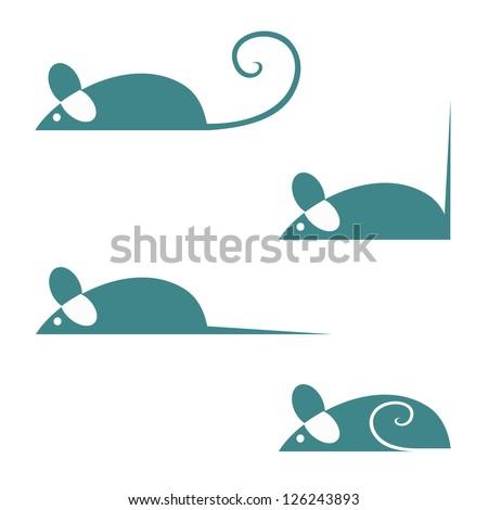 Mice animal - vector illustration - stock vector