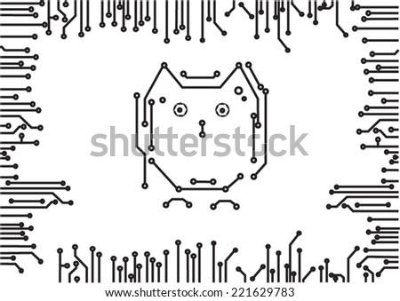 micro scheme abstract  - stock vector
