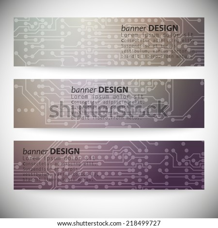 Microchip background, electronics circuit, EPS10 vector illustration. - stock vector