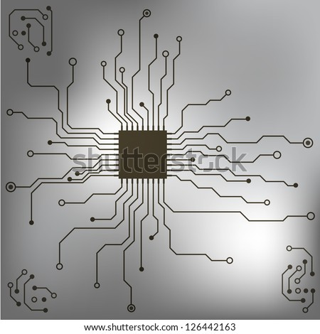 Microchip background. EPS10 vector - stock vector