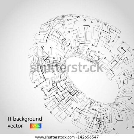 Microchip background vector - stock vector