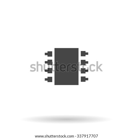 Microchip. Icon Vector - stock vector