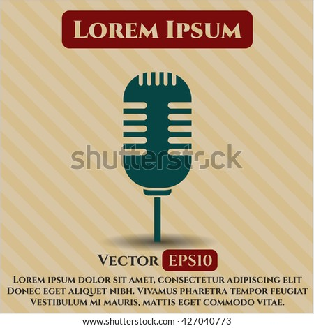 Microphone icon, Microphone icon vector, Microphone icon symbol, Microphone flat icon, Microphone icon eps, Microphone icon jpg, Microphone icon app, Microphone web icon, Microphone concept icon - stock vector