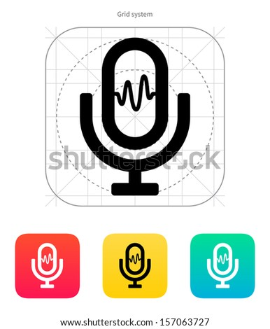Microphone signal icon. Vector illustration. - stock vector