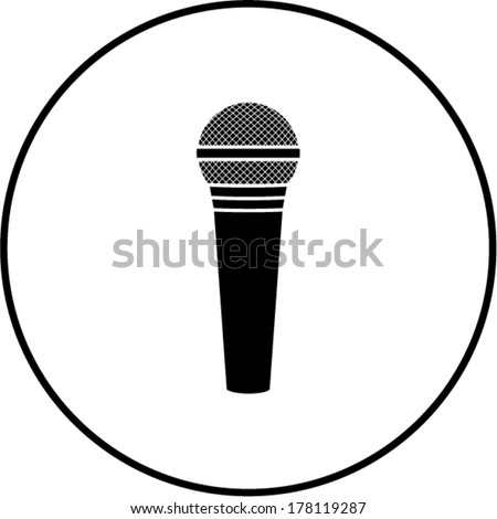 microphone symbol - stock vector