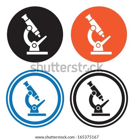 Microscope icons - stock vector