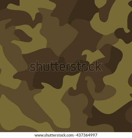 Military background of soldier green camouflaging pattern. Vector Illustration. - stock vector