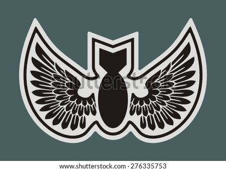 Military badge - stock vector