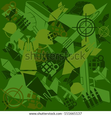 military Camouflage - stock vector