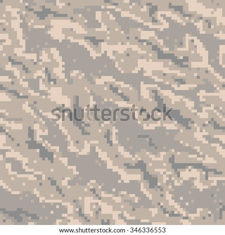 Military Camouflage Textile Seamless: USA, 2002, USAF Digital Tiger Stripe - Vector Illustration with Pattern in Swatches Panel - stock vector