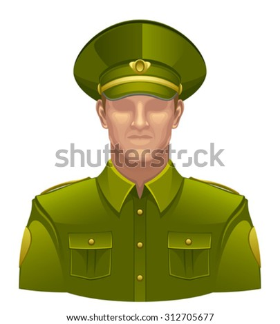 Military man - stock vector