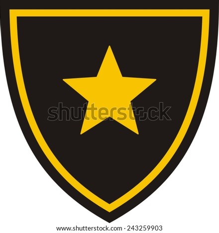 Military patch stock vectors vector clip art shutterstock for Military patch template