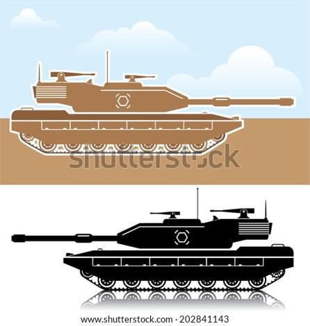 Military Tank simple vector - stock vector