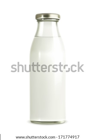 Milk bottle vector illustration - stock vector