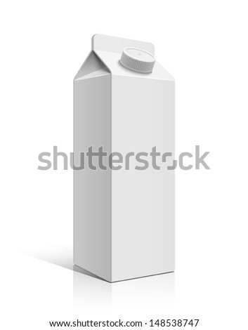 Milk box - stock vector