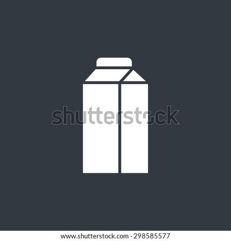 Milk box icon - stock vector