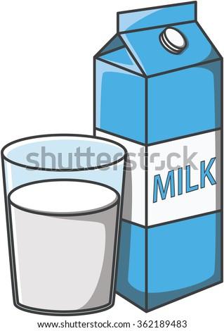 Milk doodle illustration design - stock vector