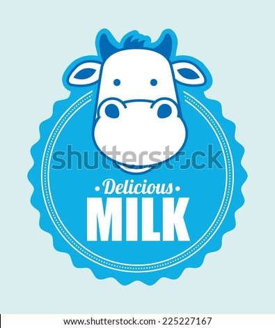 milk graphic design , vector illustration - stock vector